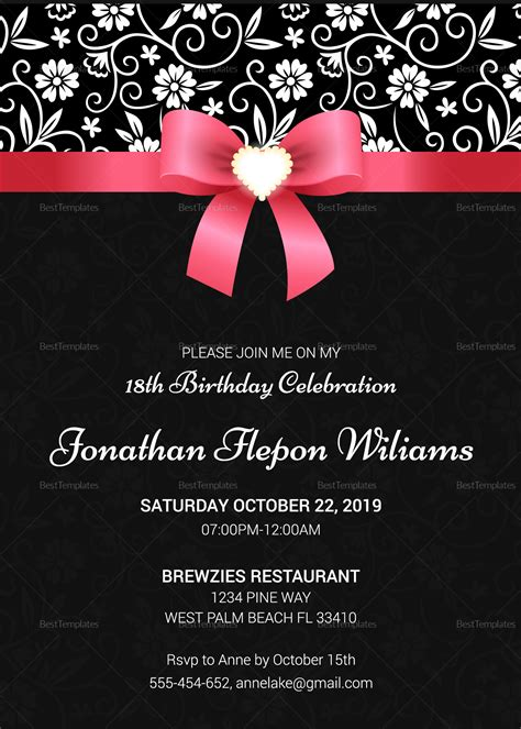 211 best wedding invitation templates free images on pinterest