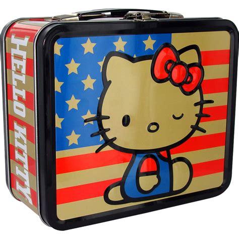 Promo Hello Lunch Box hello american flag lunch box