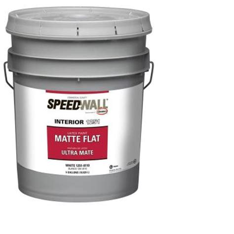 home depot 5 gallon interior paint glidden professional 5 gal speedwall white flat interior