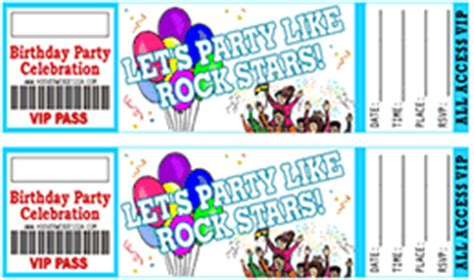 free printable birthday invitations that look like tickets 40th birthday ideas free rock star birthday invitation