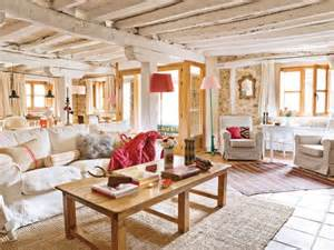 Furniture Living Room Ideas - lovevly rustic cottage interior featuring a surprising color palette