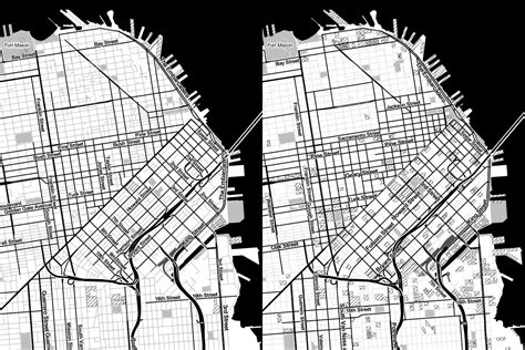 san francisco map black and white a new grant new toner new infrastructure hi stamen