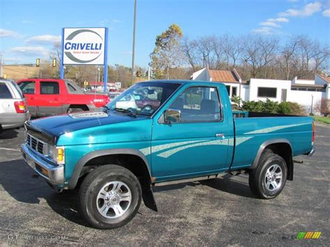 nissan pickup 4x4 1997 vivid teal pearl metallic nissan hardbody truck xe
