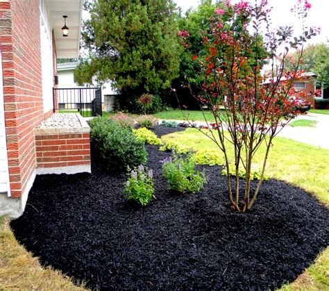 stunning black mulch landscaping ideas