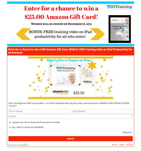 Sweepstakes Landing Page - four ways waftio apps can be used