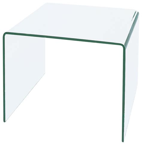 glass waterfall end table waterfall bent glass end table contemporary side