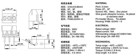 Terminal Block Hijau Kf350 2pin Pitch 3 5mm Kualitas No 1 1000pcs 3 5mm pitch 2 pin 2 way pin pcb