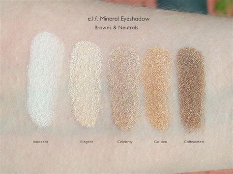 Mineral L by E L F Mineral Eyeshadow Review Dc Makeupfu