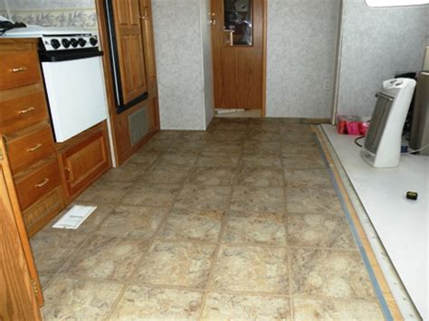 Rv Flooring Ideas by An Rv Flooring Replacement Using By Traffic Master