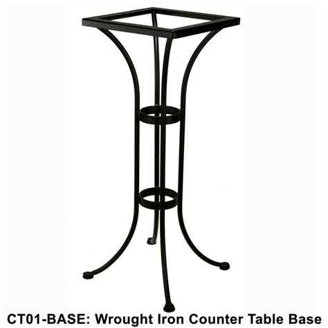 Iron Bistro Table Base Standard Wrought Iron Counter Height Bistro Table Base Ow At Forpatio