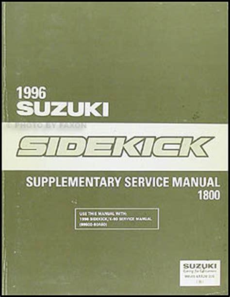 car repair manuals online pdf 1997 suzuki sidekick on board diagnostic system sidekick