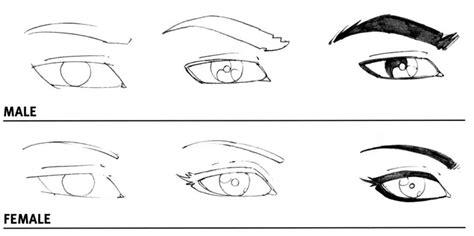 male vs female eyes how to draw male vs female eyes