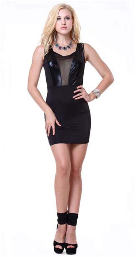 Rucika Knee Polos Pvc 1 12 D L Bengkokan D Dl Tanpa Drat fashion black sleeveless see through knee length dress n9897