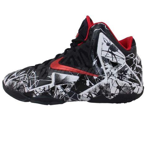 basketball shoes kid nike lebron xi gs 11 graffiti white black boys youth