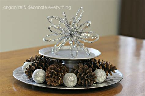 Snowflake Table Decorations by Wintery Decorating Organize And Decorate Everything