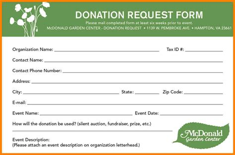 charity donation form template 8 charitable donation request form template farmer resume