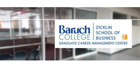 Baruch Mba Career by Graduate Career Management Center Zicklin School Of Business