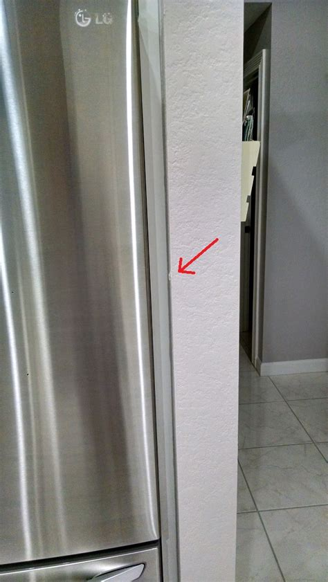 Kitchen Corner Wall Cabinet How Can I Prevent My Refrigerator Door From Hitting The