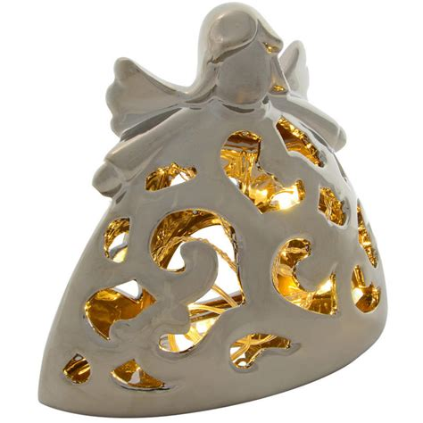 festive porcelain light up battery operated warm white led
