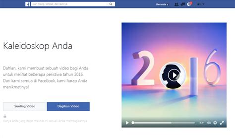 membuat facebook kaleidoskop cara membuat video akhir tahun facebook video kaleidoskop