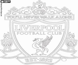 Soccer Or Football Clubs S Emblems Europe Coloring Pages Liverpool Colouring Pages