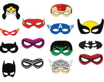 instant dl superhero masks cut out birthday party