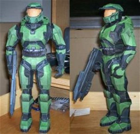 Master Chief Papercraft - papercraft master chief from halo boing boing