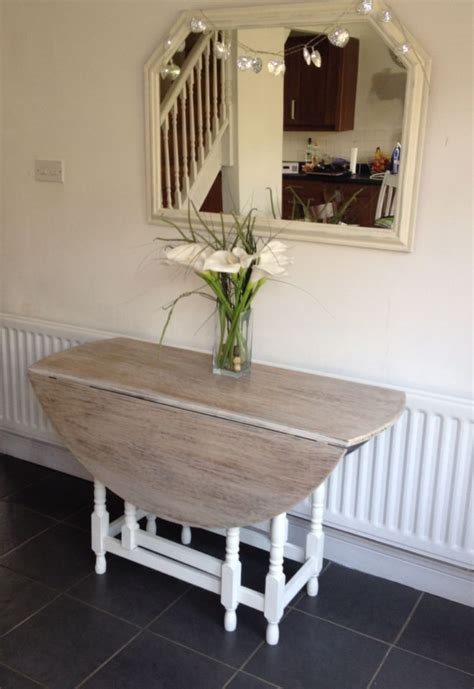 chalk paint table top gate leg table with colour wash top and chalk paint