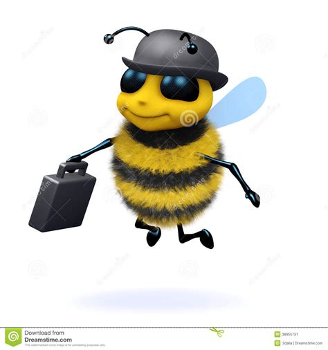 bee business bee 3d business bee stock illustration image of wildlife