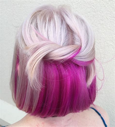 dye bottom hair tips still in style surprise colorful hair dye jobs instyle com