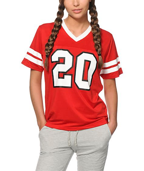 who is the lady in football jersey in viagra commercial crooks and castles lady crooks red mesh football jersey