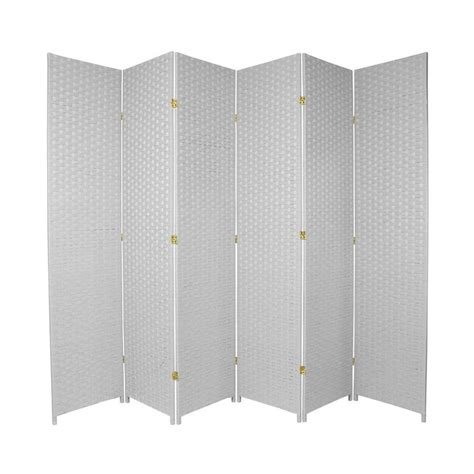 privacy screens room dividers shop furniture room dividers 6 panel white folding indoor privacy screen at lowes