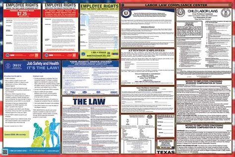printable h s law poster texas labor law posters