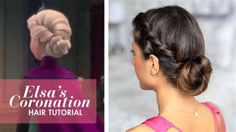 how to frozen elsas coronation hair frozen elsa s coronation up do hairstyle youtube