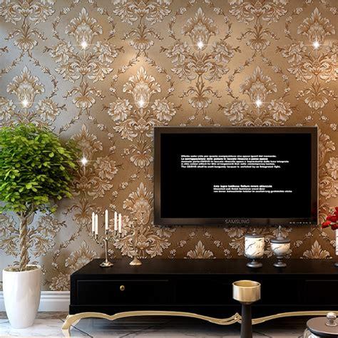 european damask diamond wallpaper 3d stereoscopic modern 10m hot selling 3d diamond wallpaper modern damask wall
