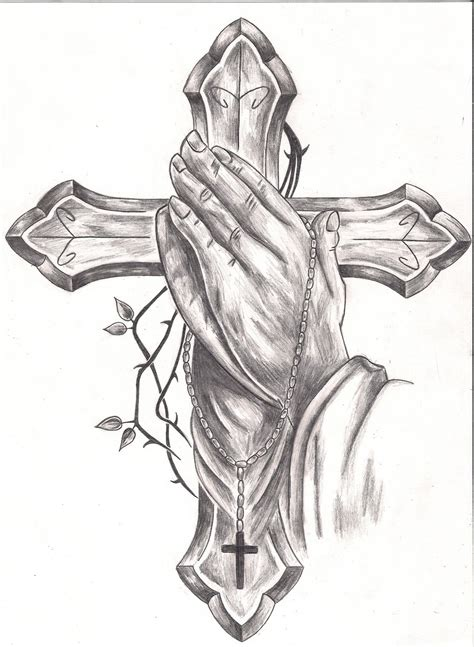 praying hands with a cross tattoo tattoos praying 2