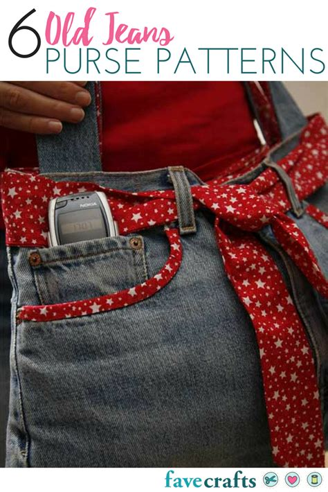 jeans handbag pattern 6 old jeans purse patterns favecrafts com