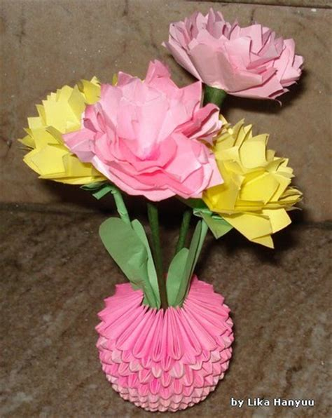lika hanyuu 折り紙 xd flor cravo carnation