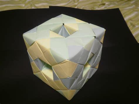 Menger Sponge Origami - level 1 menger sponge by fuzzymo1994 on deviantart