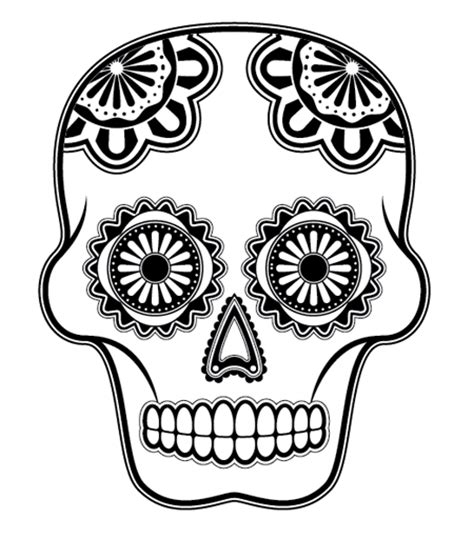 Day Of The Dead Mask Template by Day Of The Dead Skull Mask Template Sketch Coloring Page