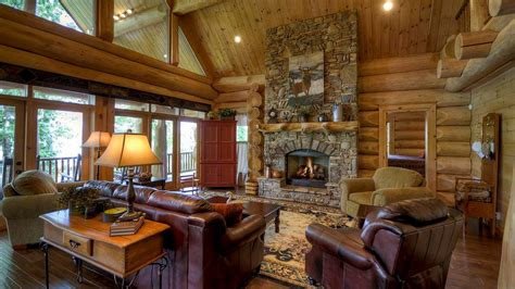 great room fireplaces alpine log timber homes