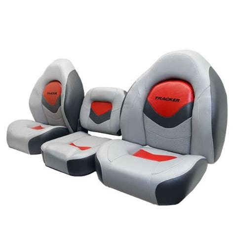 boat seats redone tracker marine 173780 gray charcoal red boat bench seat