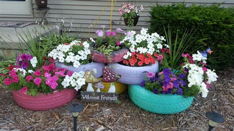 Upcycled Repurposed Tires Thediyshow Com S Clipboard Tire Garden Ideas