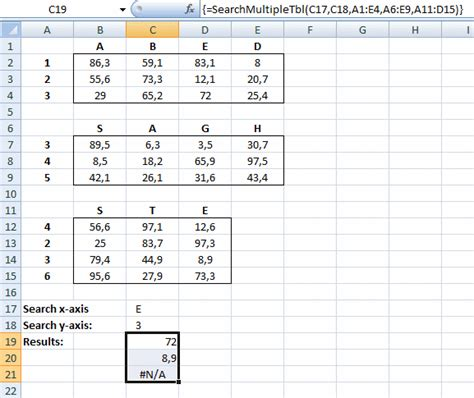 excel udf two way lookup using tables