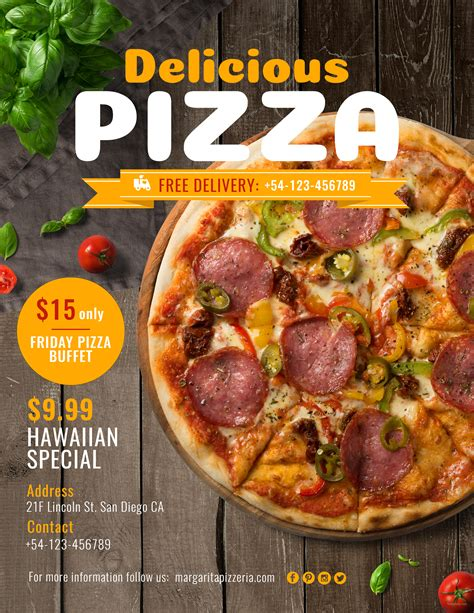 Pizza Sale Flyer Template by Free Pizza Flyer Template In Adobe Photoshop Template Net