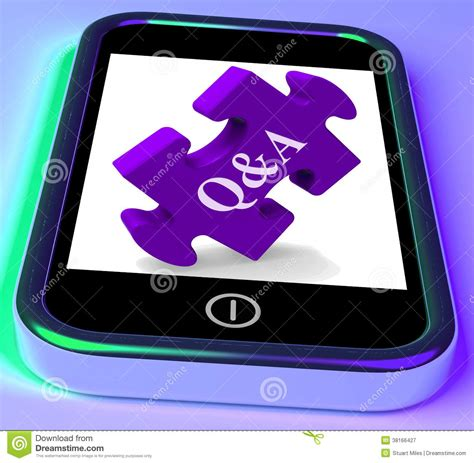 Or Question Phone Q A Puzzle On Mobile Phone Shows Questions Royalty Free Stock Photography Image 38166427