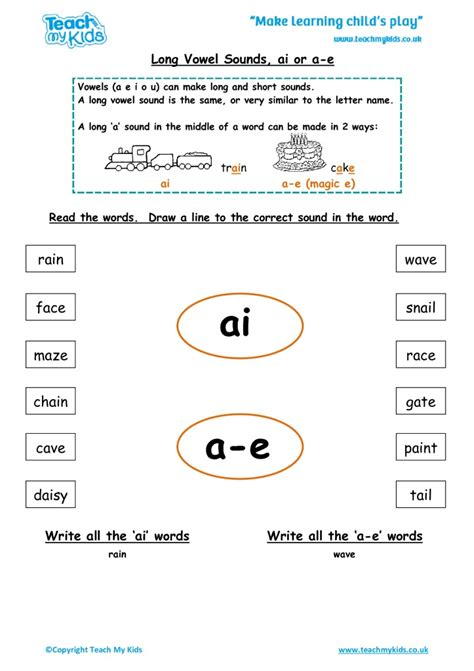 ai vowel pattern worksheets a e worksheets calleveryonedaveday