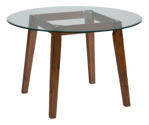 round glass top kitchen table plantation 48 quot round dining height table with glass top