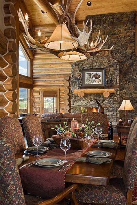log cabin dining room log cabin pinterest log cabin dining room dream cabin and lodge pinterest