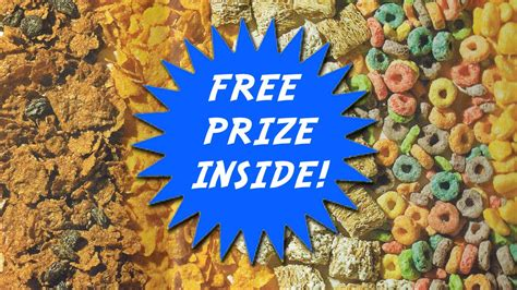 Cereal Sweepstakes - prizes premiums youtube